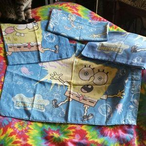 4 SpongeBob Squarepants pillow case bundle